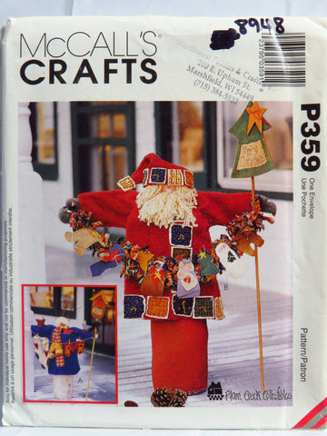 McCall's 0359 Santa and Snowman Greeters -  - Smiths Depot Sewing Pattern Superstore