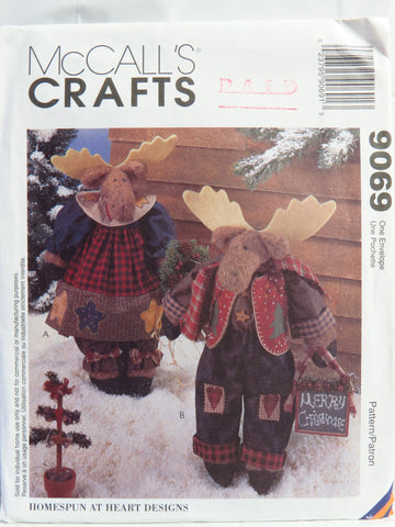 McCall's 9069 Reindeer Dolls -  - Smiths Depot Sewing Pattern Superstore