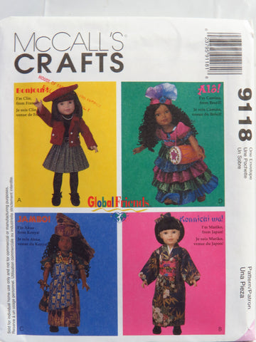"McCall's 9118 Doll Clothes for 14"" and 18"" Dolls -  - Smiths Depot Sewing Pattern Superstore"