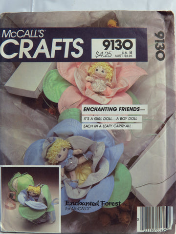 McCall's 9130 Enchanted Forest Baby Dolls -  - Smiths Depot Sewing Pattern Superstore