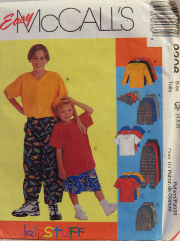 McCall's 9206 Children's and Boys' Shirt, T-Shirt, Pants or Shorts and Hat - CF (4-5-6) - Smiths Depot Sewing Pattern Superstore