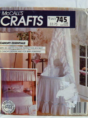 McCall's 0745 Canopy Essentials -  - Smiths Depot Sewing Pattern Superstore