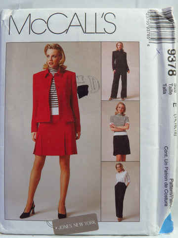 McCall's 9378 Misses' Lined Jacket, Pants and Shirt - E (14-16-18) - Smiths Depot Sewing Pattern Superstore
