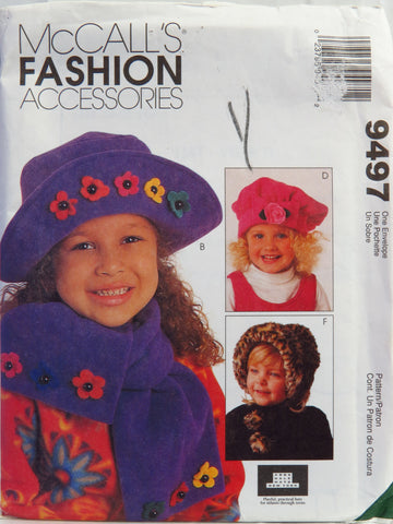 McCall's 9497 Children's Hats -  - Smiths Depot Sewing Pattern Superstore