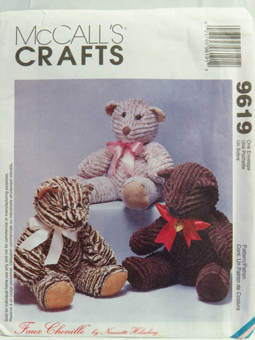 McCall's 9619 Teddy Bear -  - Smiths Depot Sewing Pattern Superstore
