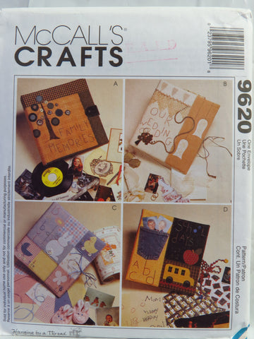 McCall's 9620 Memory Albums -  - Smiths Depot Sewing Pattern Superstore