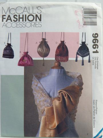 McCall's 9661 Scarves and Drawstring Purse -  - Smiths Depot Sewing Pattern Superstore