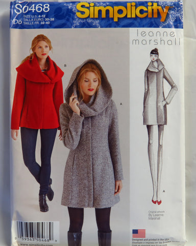 Simplicity 0468 Misses' Easy Lined Coat or Jacket - D5 (4-6-8-10-12) - Smiths Depot Sewing Pattern Superstore  - 1