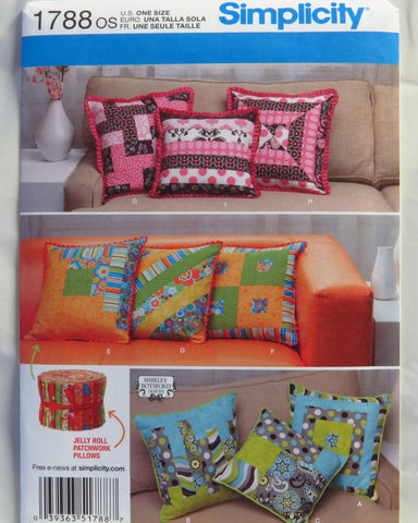 Simplicity 1788 Patchwork Pillow in Three Sizes -  - Smiths Depot Sewing Pattern Superstore