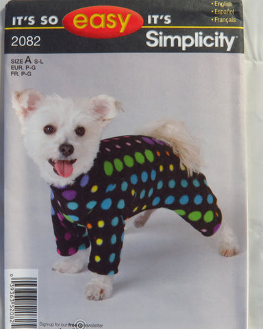 Simplicity 2082 Dog Coat Smiths Depot Sewing Pattern Superstore