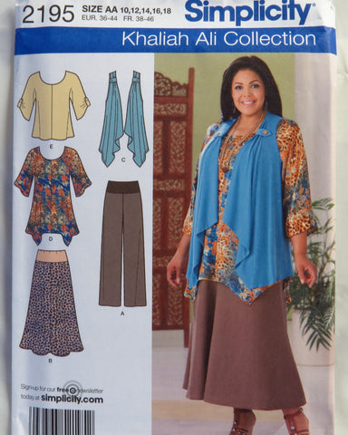 Simplicity 2195 Misseswomens Tunic Or Top Pants Skirt And Knit