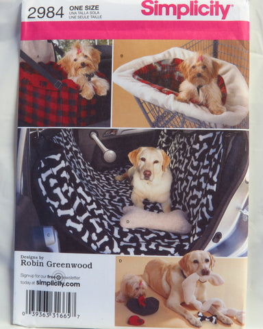 Simplicity 2984 Travel Accessories for Dogs -  - Smiths Depot Sewing Pattern Superstore  - 1