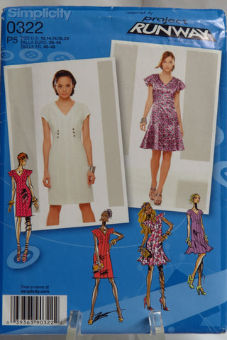 Simplicity 0322 Misses' Dresses Project Runway Collection -  - Smiths Depot Sewing Pattern Superstore