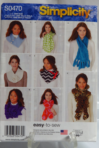 Simplicity 0470 Assorted Scarves -  - Smiths Depot Sewing Pattern Superstore