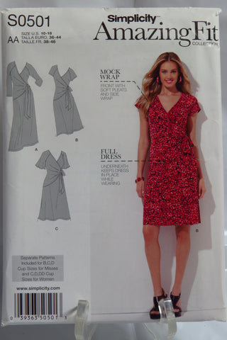 Simplicity 0501 Misses' & Plus Sizes Amazing Fit Knit Dress -  - Smiths Depot Sewing Pattern Superstore  - 1