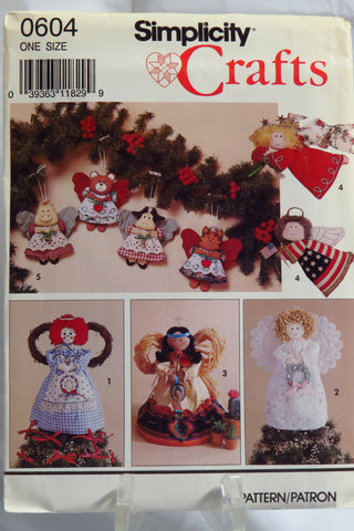 Simplicity 0604 Angel Tree Topper or Standing Decoration and Ornaments -  - Smiths Depot Sewing Pattern Superstore