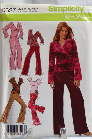 Simplicity 0627 Misses' Pants and Knit Tops - PP (12-14-16-18) - Smiths Depot Sewing Pattern Superstore