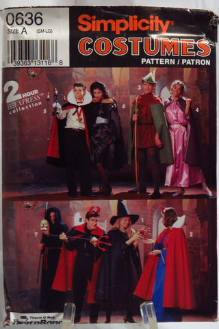 Simplicity 0636 Adult Costumes -  - Smiths Depot Sewing Pattern Superstore