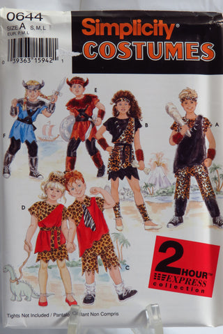 Simplicity 0644 Child's Costumes - A (S-M-L) - Smiths Depot Sewing Pattern Superstore
