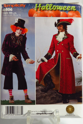 Simplicity 0806 Men's Costumes - BB (L-XL) - Smiths Depot Sewing Pattern Superstore