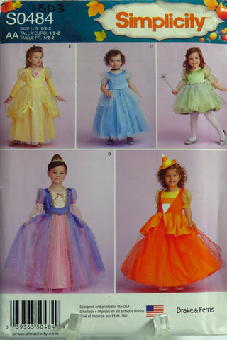 Simplicity 0484 Toddlers' and Child's Costumes -  - Smiths Depot Sewing Pattern Superstore