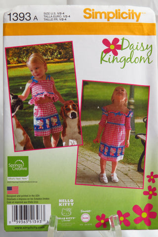 Simplicity 1393 Toddlers' Dress, Top, Shorts, Bag and Headband -  - Smiths Depot Sewing Pattern Superstore