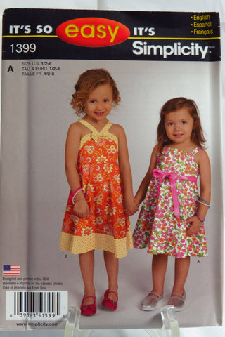 Simplicity 1399 Toddlers' and Child's Dress -  - Smiths Depot Sewing Pattern Superstore