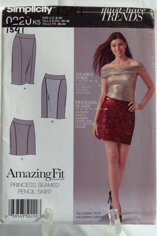 Simplicity 0220 Misses' Princess Seamed Pencil Skirt -  - Smiths Depot Sewing Pattern Superstore