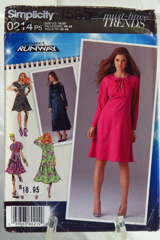 Simplicity 0214 Misses' Dress in Two Lengths with Sleeve and Trim Variations -  - Smiths Depot Sewing Pattern Superstore