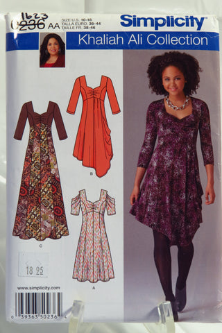 Simplicity 0236 Misses'/Women's Knit Dress in Two Lengths and Long Dress with Knit Bodice -  - Smiths Depot Sewing Pattern Superstore
