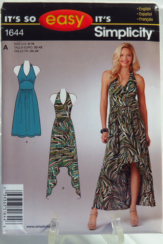 Simplicity 1644 Misses' Knit Dress in Two Lengths -  - Smiths Depot Sewing Pattern Superstore