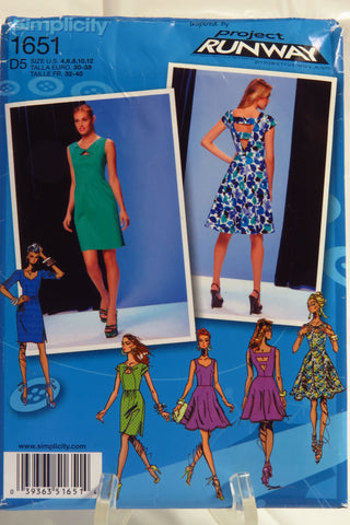 Simplicity 1651 Misses' Dress with Bodice and Skirt Variations - D5 (4-6-8-10-12) - Smiths Depot Sewing Pattern Superstore