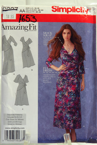 Simplicity 0237 Misses' & Plus Sizes Amazing Fit Knit Dress - AA (10-18) - Smiths Depot Sewing Pattern Superstore