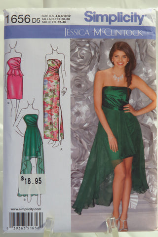 Simplicity 1656 Misses' Special Occasion Dress - D5 (4-6-8-10-12) - Smiths Depot Sewing Pattern Superstore  - 1
