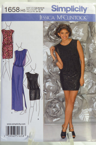 Simplicity 1658 Misses'/Miss Petite Special Occasion Dress - H5 (6-8-10-12-14) - Smiths Depot Sewing Pattern Superstore  - 2