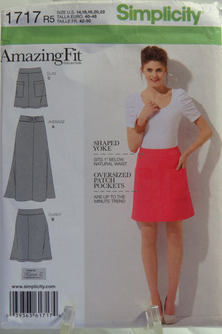 Simplicity 1717 Misses' Amazing Fit Skirt - R5 (14-16-18-20-22) - Smiths Depot Sewing Pattern Superstore  - 1