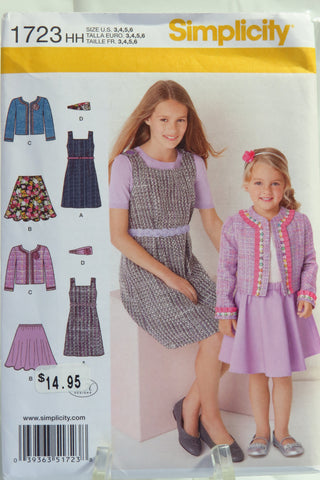 Simplicity 1723 Child's and Girls' Sportswear - HH (3-4-5-6) - Smiths Depot Sewing Pattern Superstore  - 1