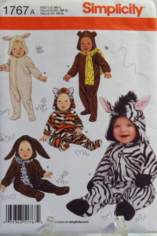 Simplicity 1767 Babies' Costumes - A (XS-L) - Smiths Depot Sewing Pattern Superstore