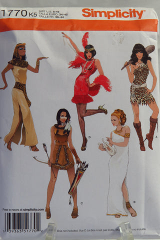Simplicity 1770 Misses' Costumes - K5 (8-16) - Smiths Depot Sewing Pattern Superstore
