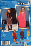 Simplicity 1787 Girls' & Girls' Plus Jumper or Dress with Sleeve Variations and Vest - AA (8-10-12-14-16) - Smiths Depot Sewing Pattern Superstore  - 1