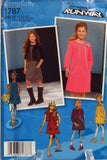 Simplicity 1787 Girls' & Girls' Plus Jumper or Dress with Sleeve Variations and Vest - BB (8 1/2-16 1/2) - Smiths Depot Sewing Pattern Superstore  - 2