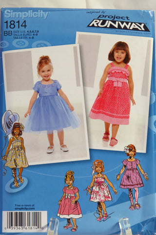 Simplicity 1814 Toddlers' and Child's Dress in Two Lengths with Bodice and Trim Variations -  - Smiths Depot Sewing Pattern Superstore