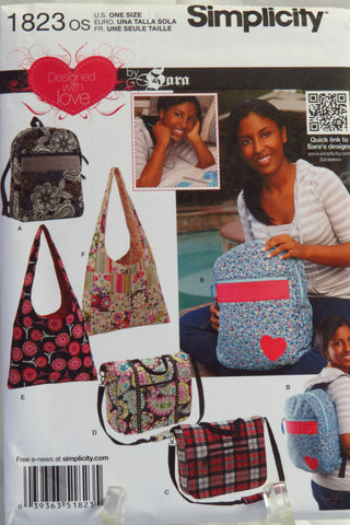 Simplicity 1823 Handbags, Purses, Backpacks -  - Smiths Depot Sewing Pattern Superstore