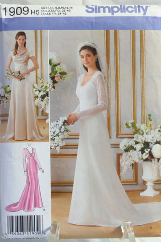 Simplicity 1909 Misses' Lined Wedding and Bridesmaids Gowns -  - Smiths Depot Sewing Pattern Superstore
