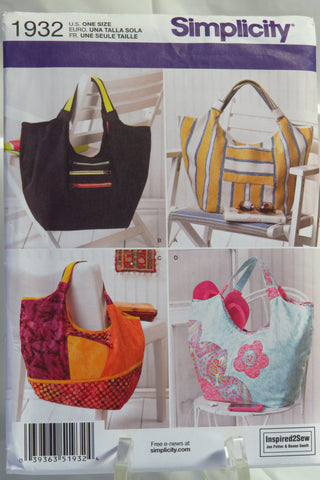 Simplicity 1932 Inspired2Sew Bags and Handbags -  - Smiths Depot Sewing Pattern Superstore