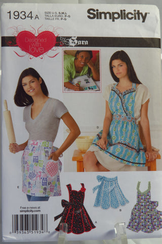 Simplicity 1934 Misses' Aprons -  - Smiths Depot Sewing Pattern Superstore