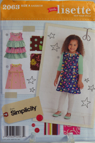 Simplicity 2063 Child's Dresses -  - Smiths Depot Sewing Pattern Superstore