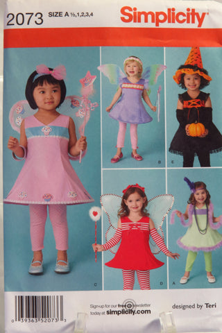 Simplicity 2073 Toddlers Costume -  - Smiths Depot Sewing Pattern Superstore