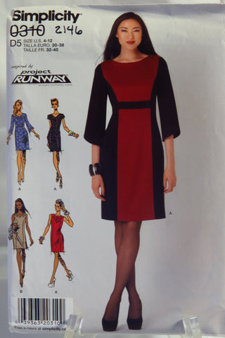 Simplicity 0310 Misses' and Miss Petite Dress with Sleeve and Neckline Variations -  - Smiths Depot Sewing Pattern Superstore