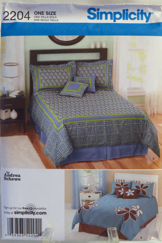 Simplicity 2204 Bedroom Accessories -  - Smiths Depot Sewing Pattern Superstore